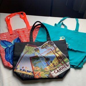 Bundle of 3 Lancôme Canvas Bags New Totes